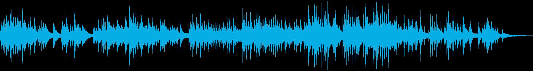 ロマンチックなピアノバラードの再生済みの波形