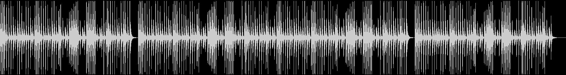 ほのぼのゆるめのマリンバBCMの未再生の波形