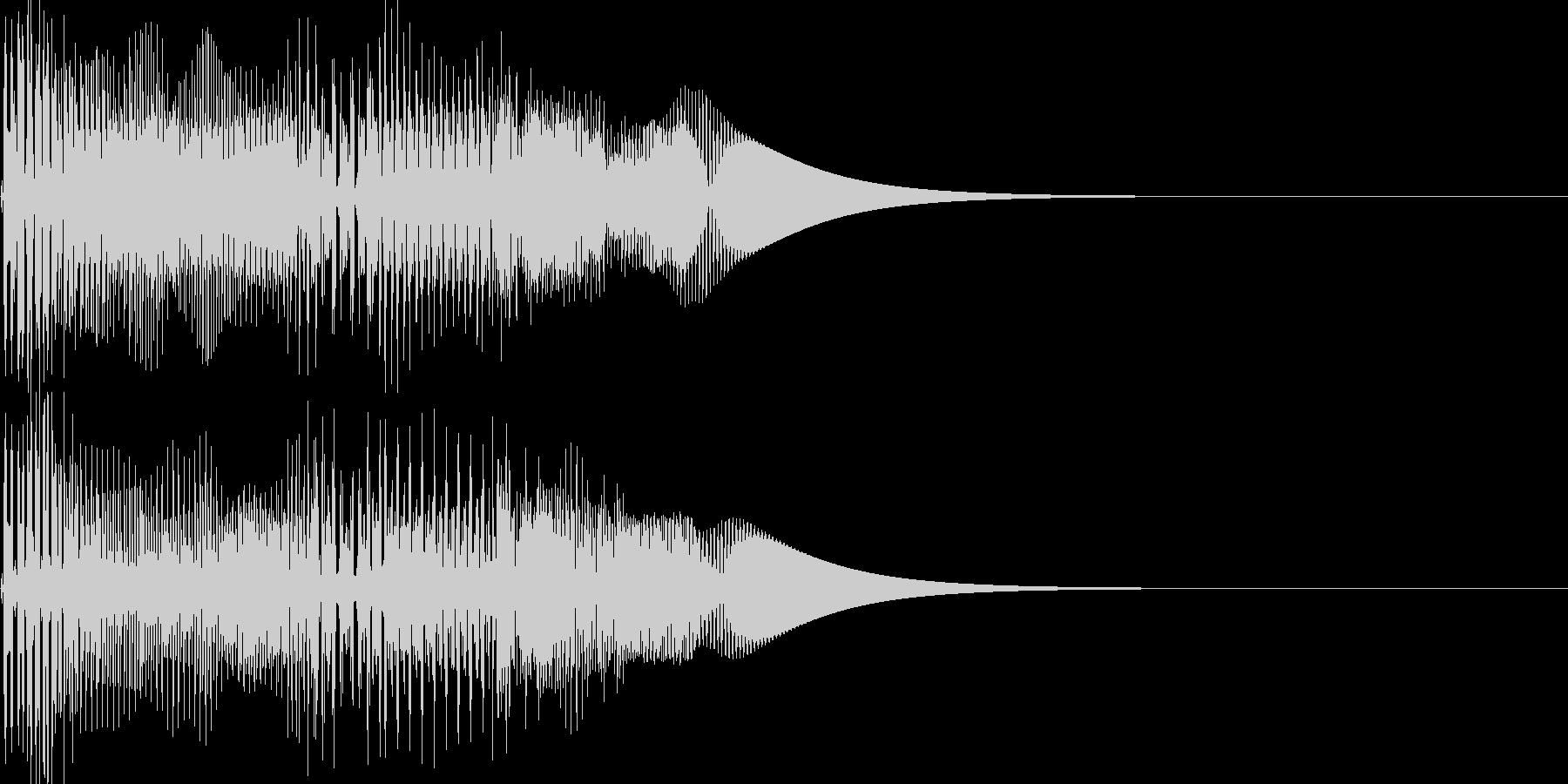 ゲーム系カーソル選択音02 (戻る)の未再生の波形
