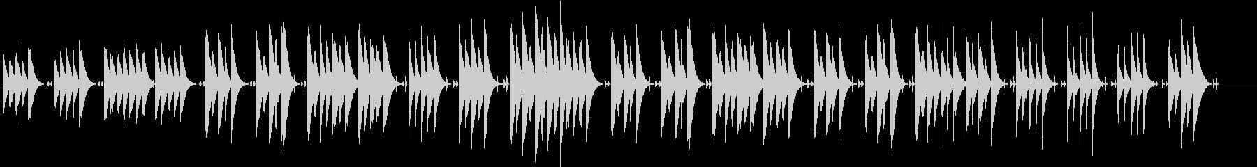 木琴の音がメインのほのぼのとした曲の未再生の波形