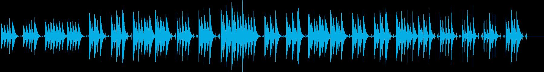 木琴の音がメインのほのぼのとした曲の再生済みの波形