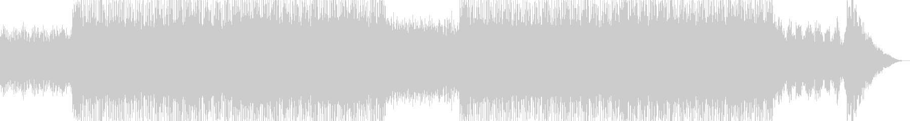 カッコイイ現代的なシンセミュージック02の未再生の波形