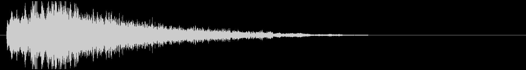神秘的で透明感のあるアクセント音5の未再生の波形