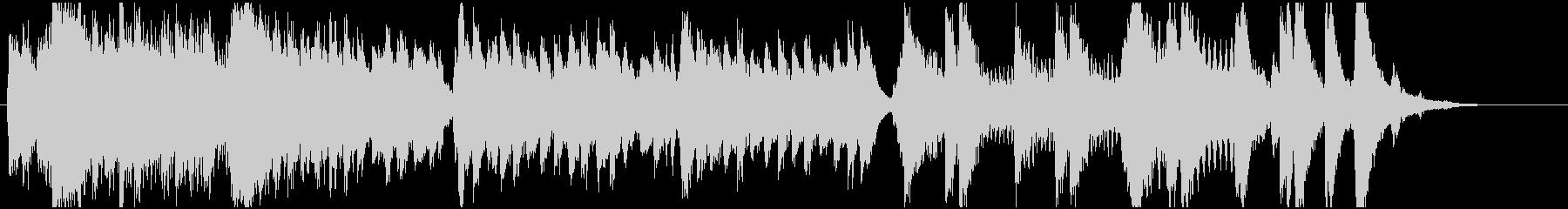 威厳ある日本風なBGMの未再生の波形
