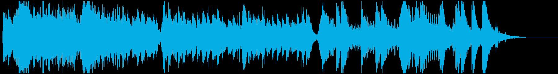 威厳ある日本風なBGMの再生済みの波形