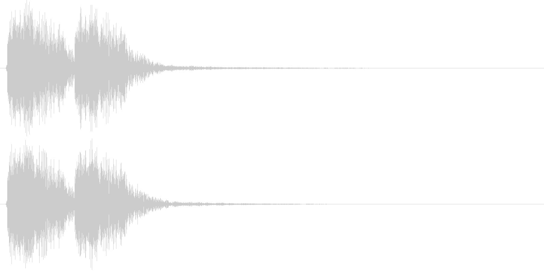 デッデン(出題前によく流れる効果音)の未再生の波形