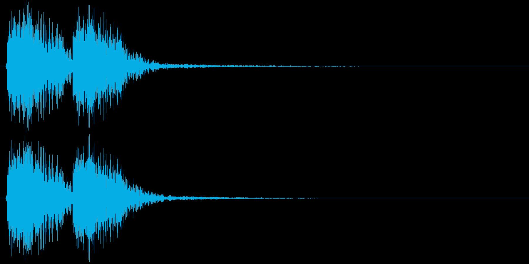 デッデン(出題前によく流れる効果音)の再生済みの波形