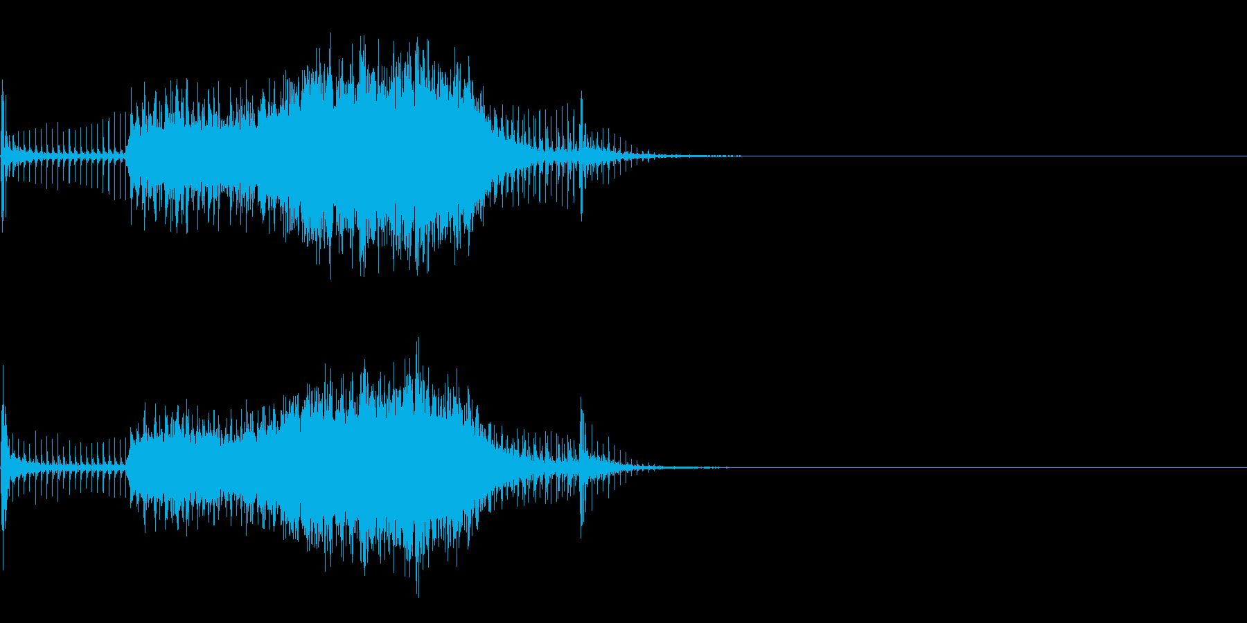 スパーク音-18の再生済みの波形