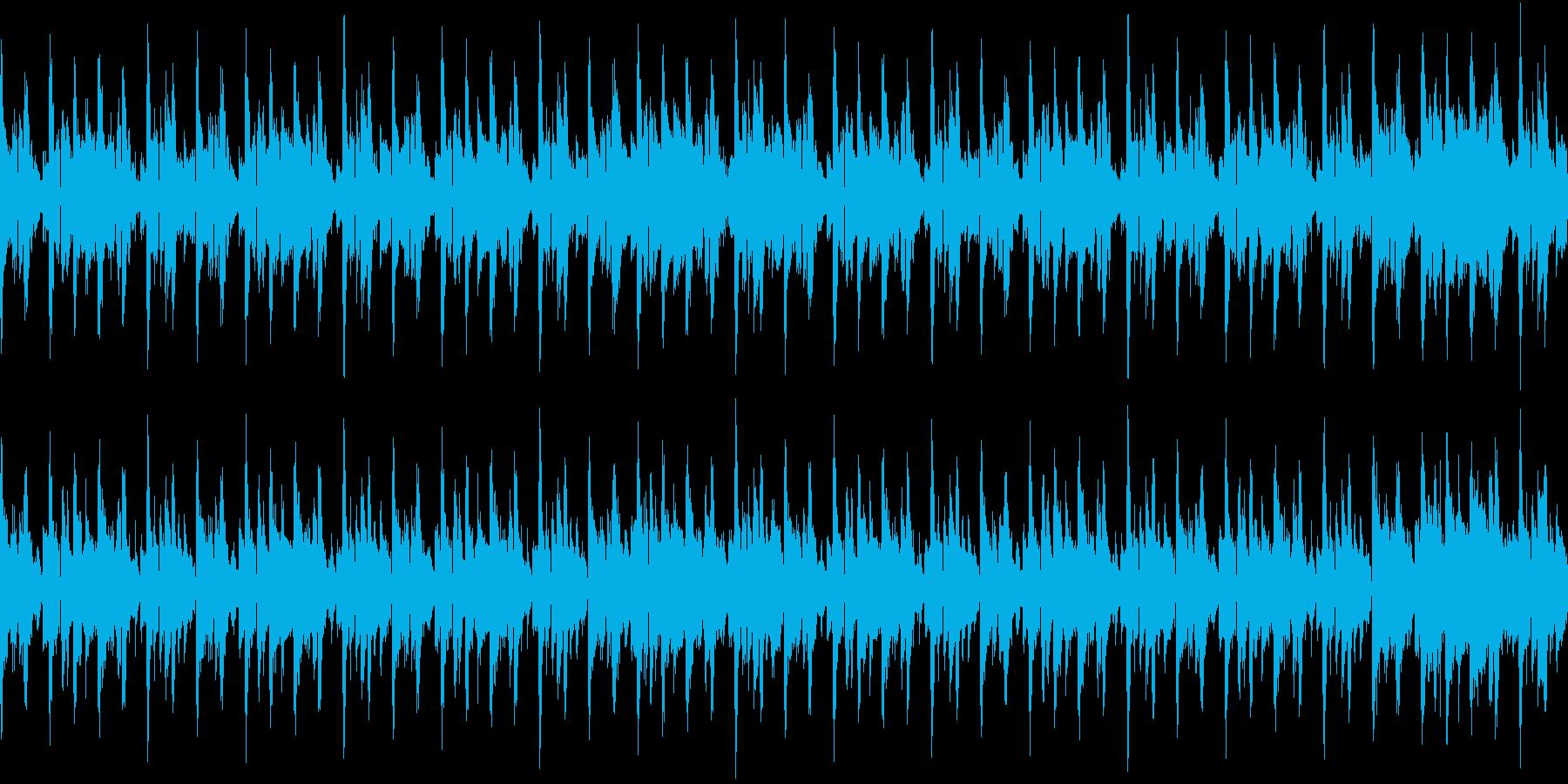 ブラスとエレピのコンビネーションループの再生済みの波形