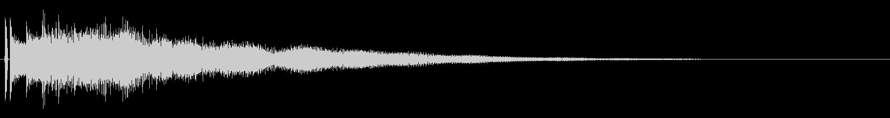 決定音。「タラララーン」の未再生の波形