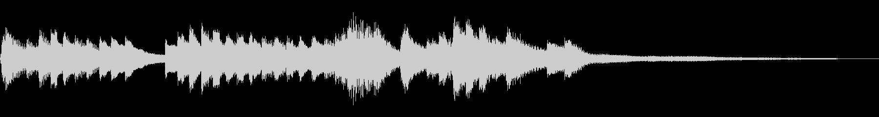 和風のジングル1a-ピアノソロの未再生の波形