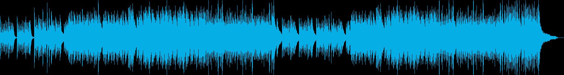 人と人を繋ぐ優しいイメージのピアノ曲の再生済みの波形