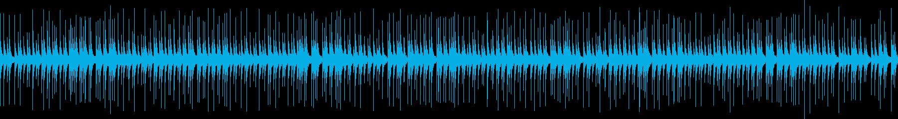 よく聴く伝統的な相撲の寄せ太鼓 ループの再生済みの波形