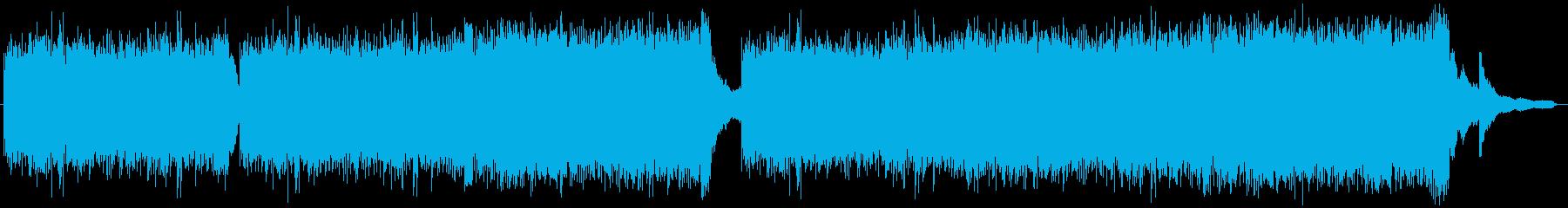 美しいメロディのピアノとストリングス曲の再生済みの波形