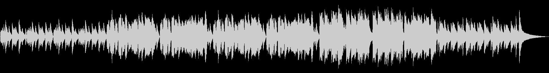 かわいい映像に合う優しいフルート曲の未再生の波形
