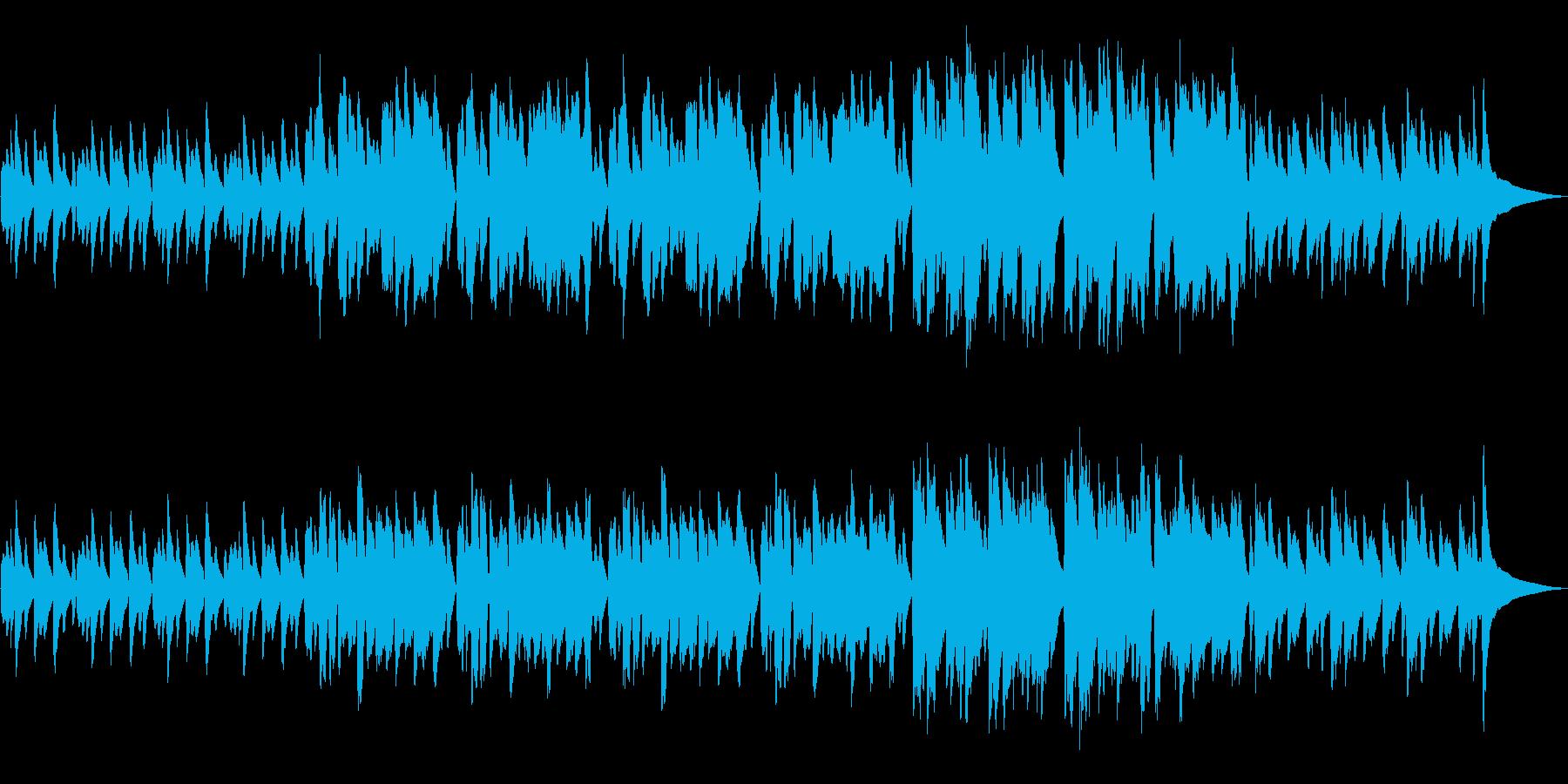 かわいい映像に合う優しいフルート曲の再生済みの波形