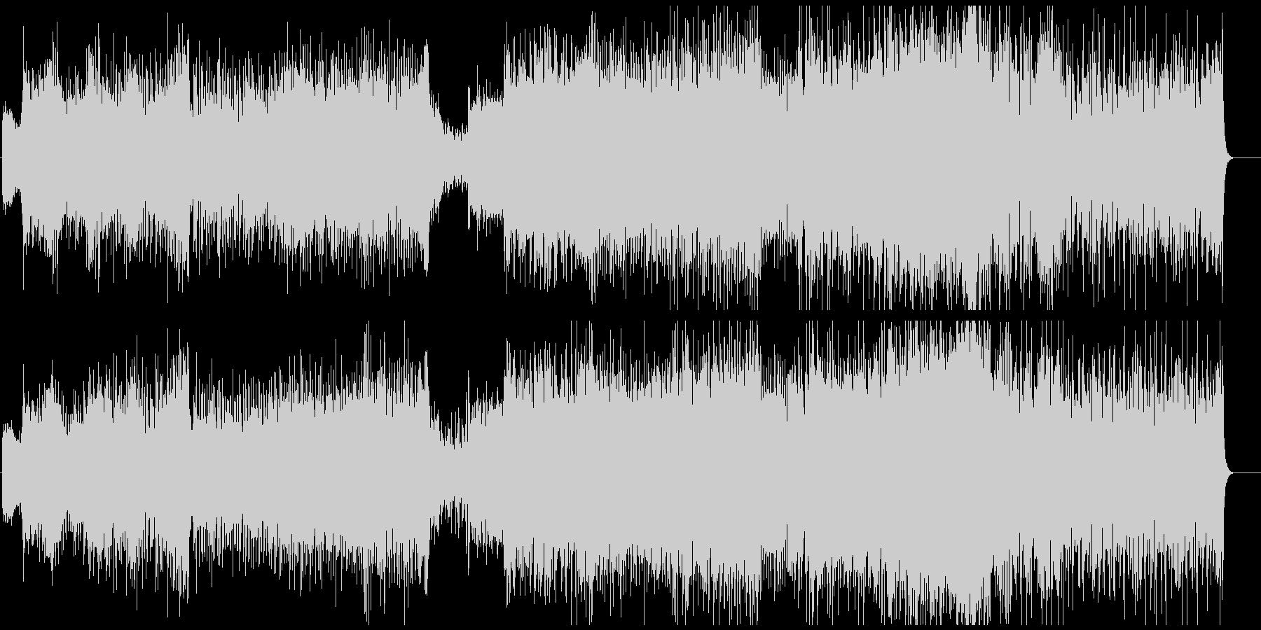 アップテンポなオケとシンセのハイブリッドの未再生の波形