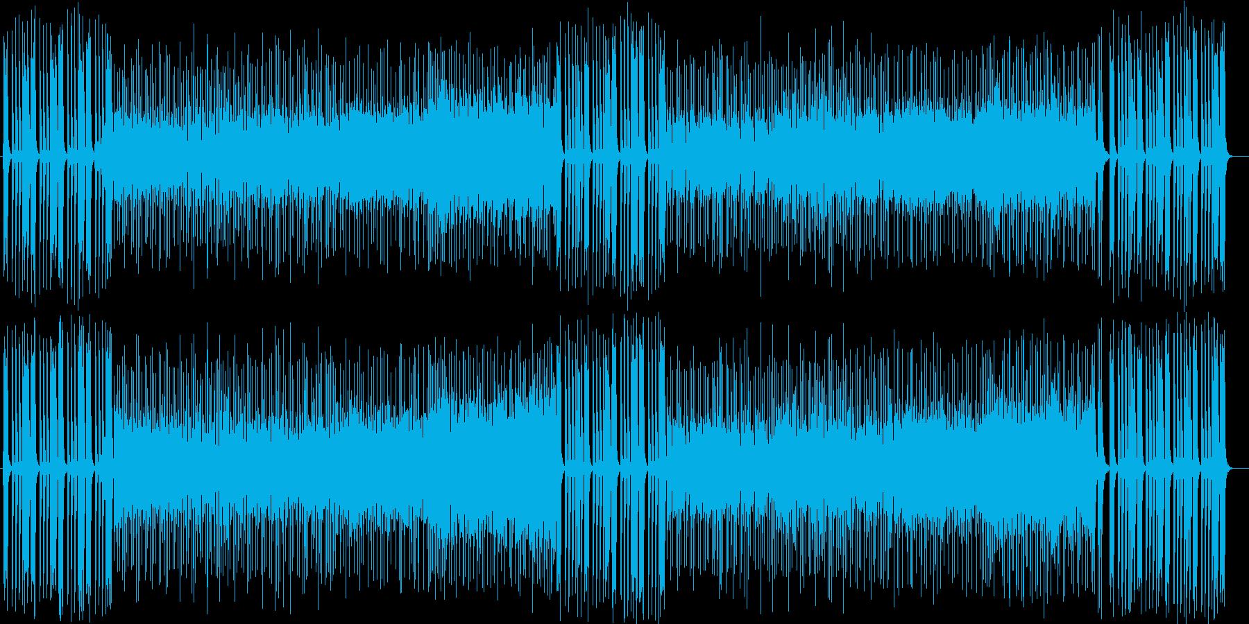 弾けるドラムの緩やかメロディーサウンドの再生済みの波形