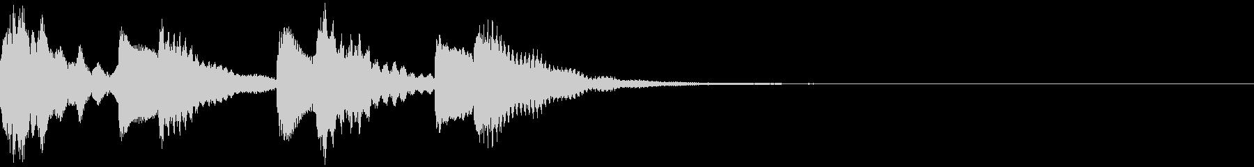 ほのぼのとしたジングル:14-2の未再生の波形