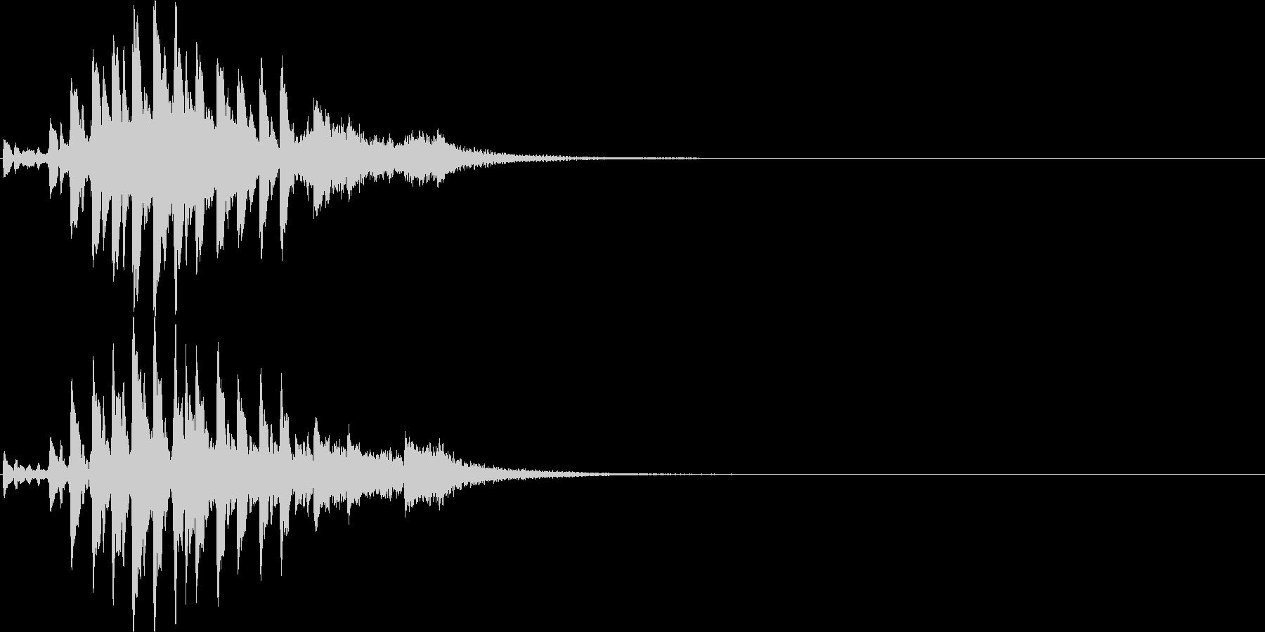 テケテケテケ…テレレレ…琴の単発フレーズの未再生の波形