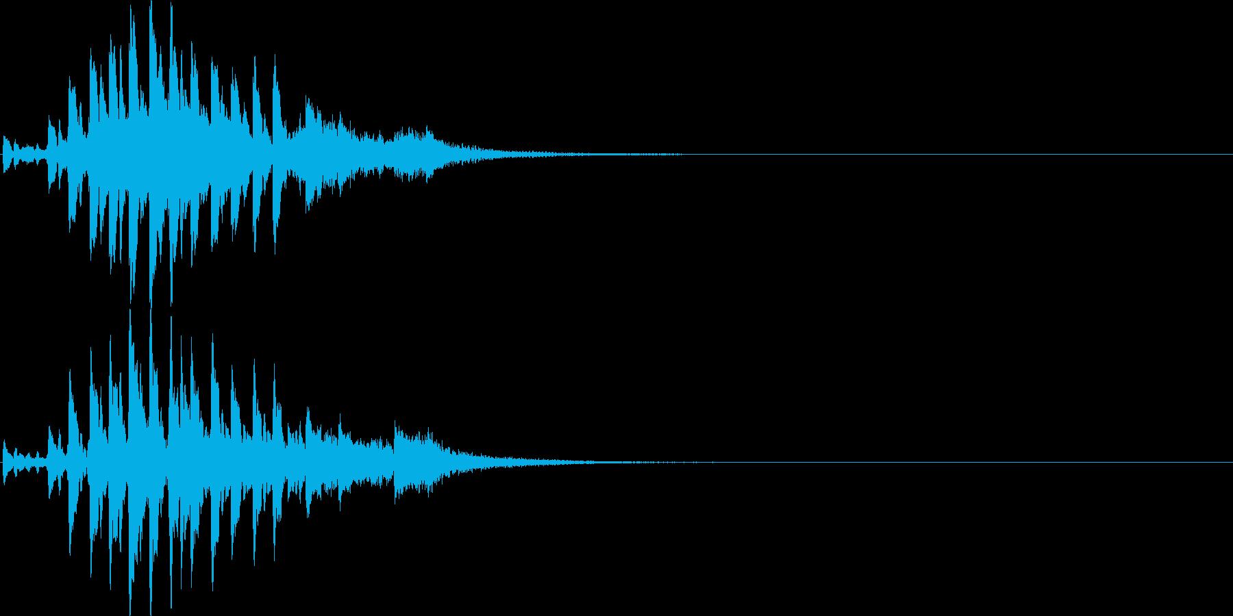 テケテケテケ…テレレレ…琴の単発フレーズの再生済みの波形