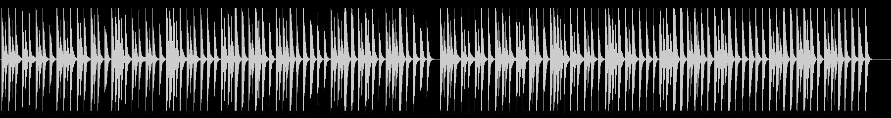 かわくて切ないピアノ、雪、思い出の未再生の波形