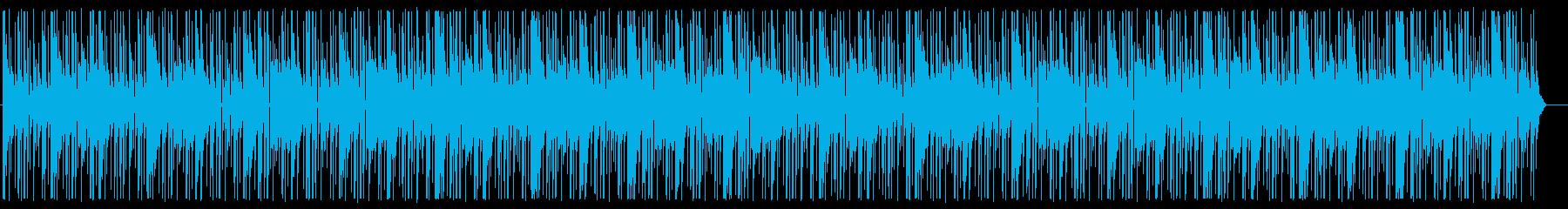 緊張感のあるヒップホップトラックの再生済みの波形