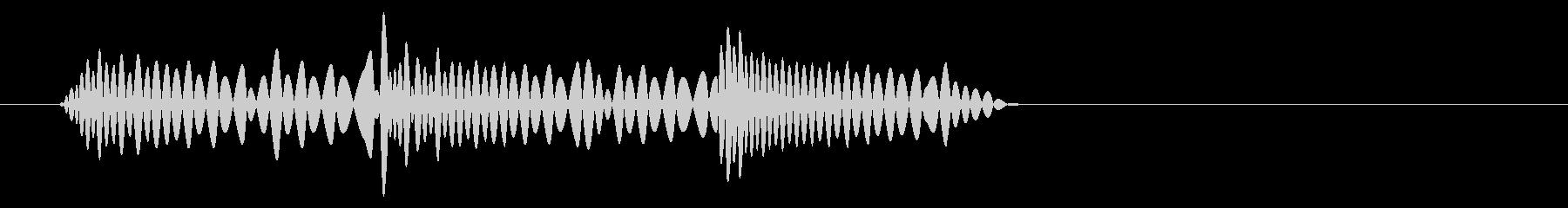 急に止まる時のイメージ音の未再生の波形