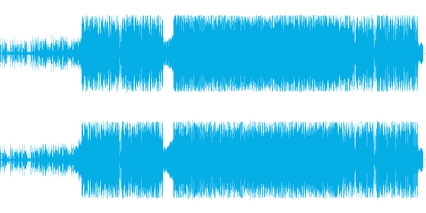 映像にぴったりな電子ロックの再生済みの波形