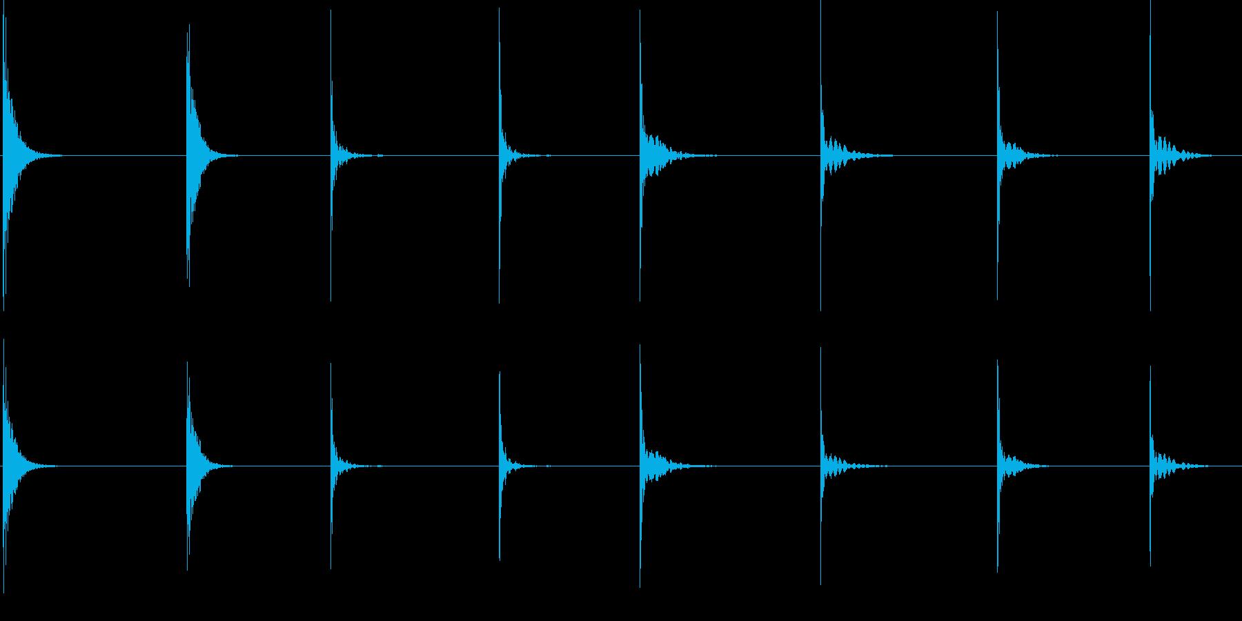 メタル、インパクト、ヒット、ダーク...の再生済みの波形