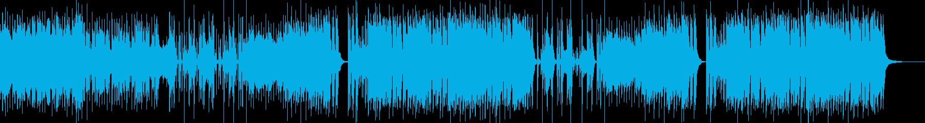 シンセを使ったギターロックの再生済みの波形