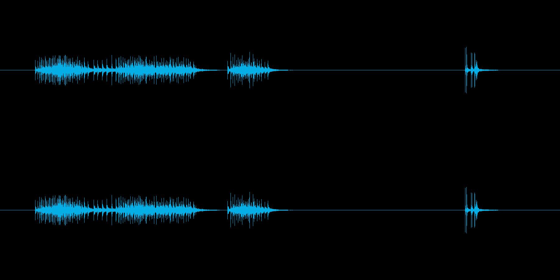 【セロテープ01-3(引く・切る)】の再生済みの波形