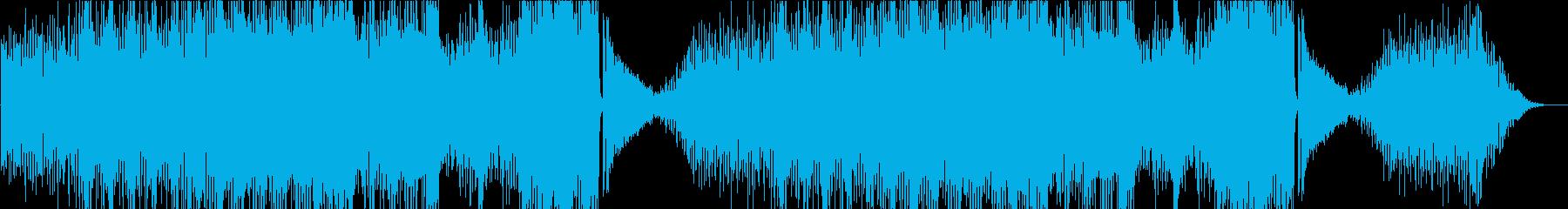 民族楽器を使った賑やかな曲の再生済みの波形