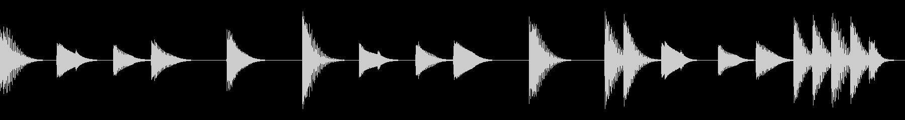 マリンバの軽快な音の未再生の波形