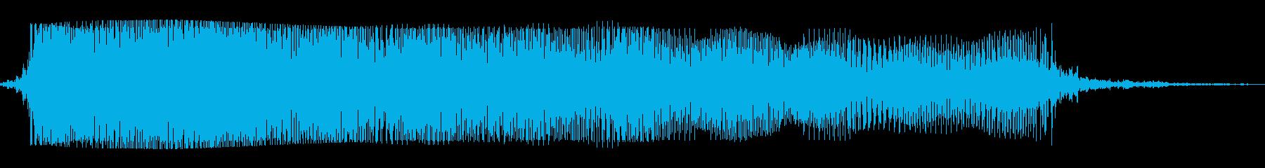 ギターメタルパワーコードz wの再生済みの波形