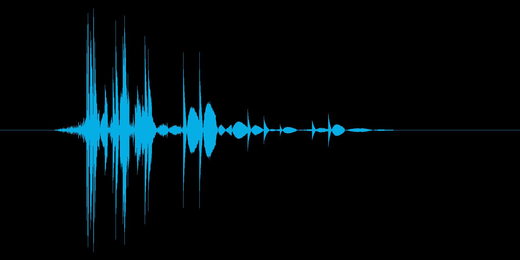 ゲーム(ファミコン風)ヒット音_035の再生済みの波形