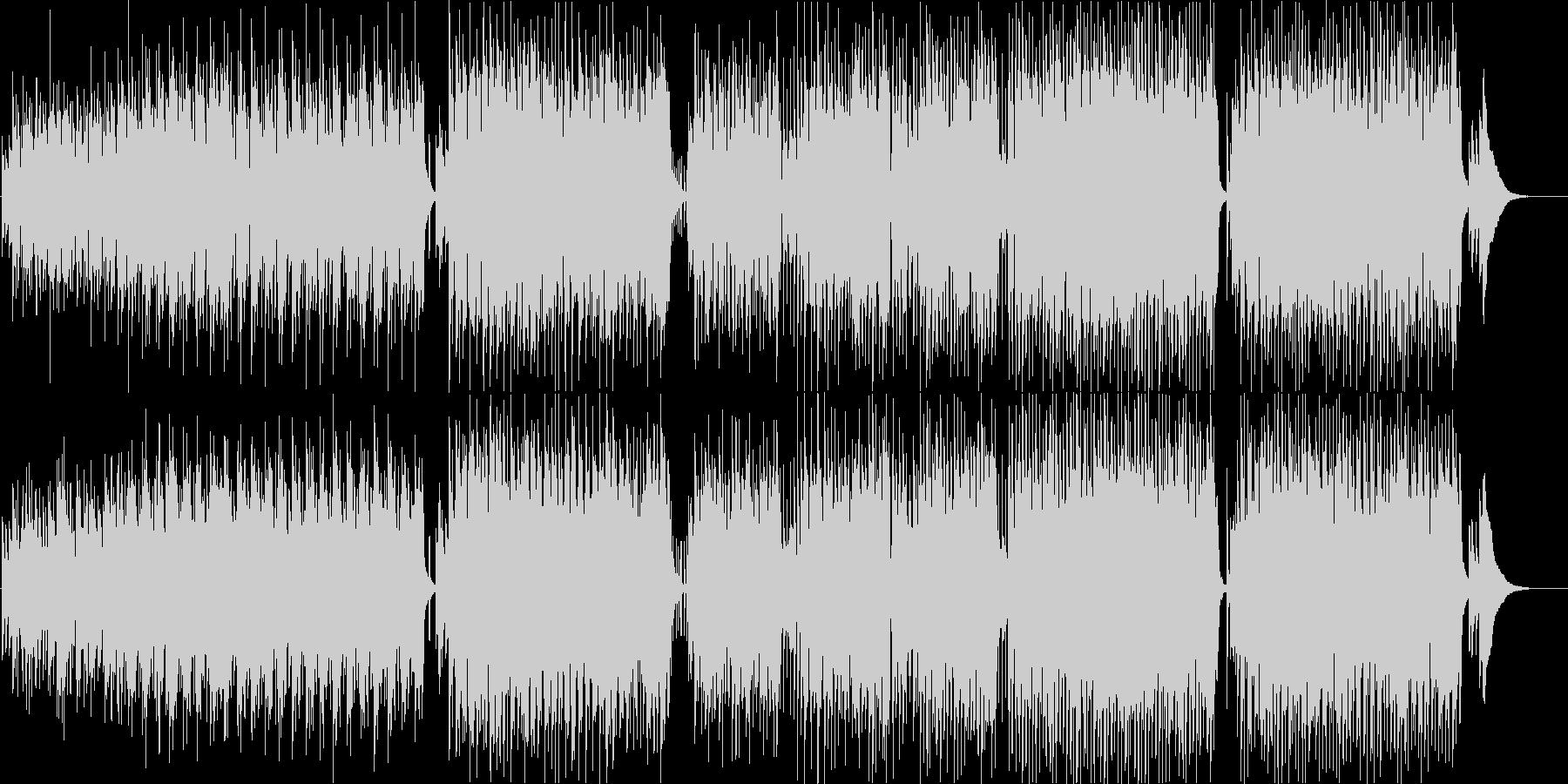 ほのぼの可愛いアコースティックポップの未再生の波形