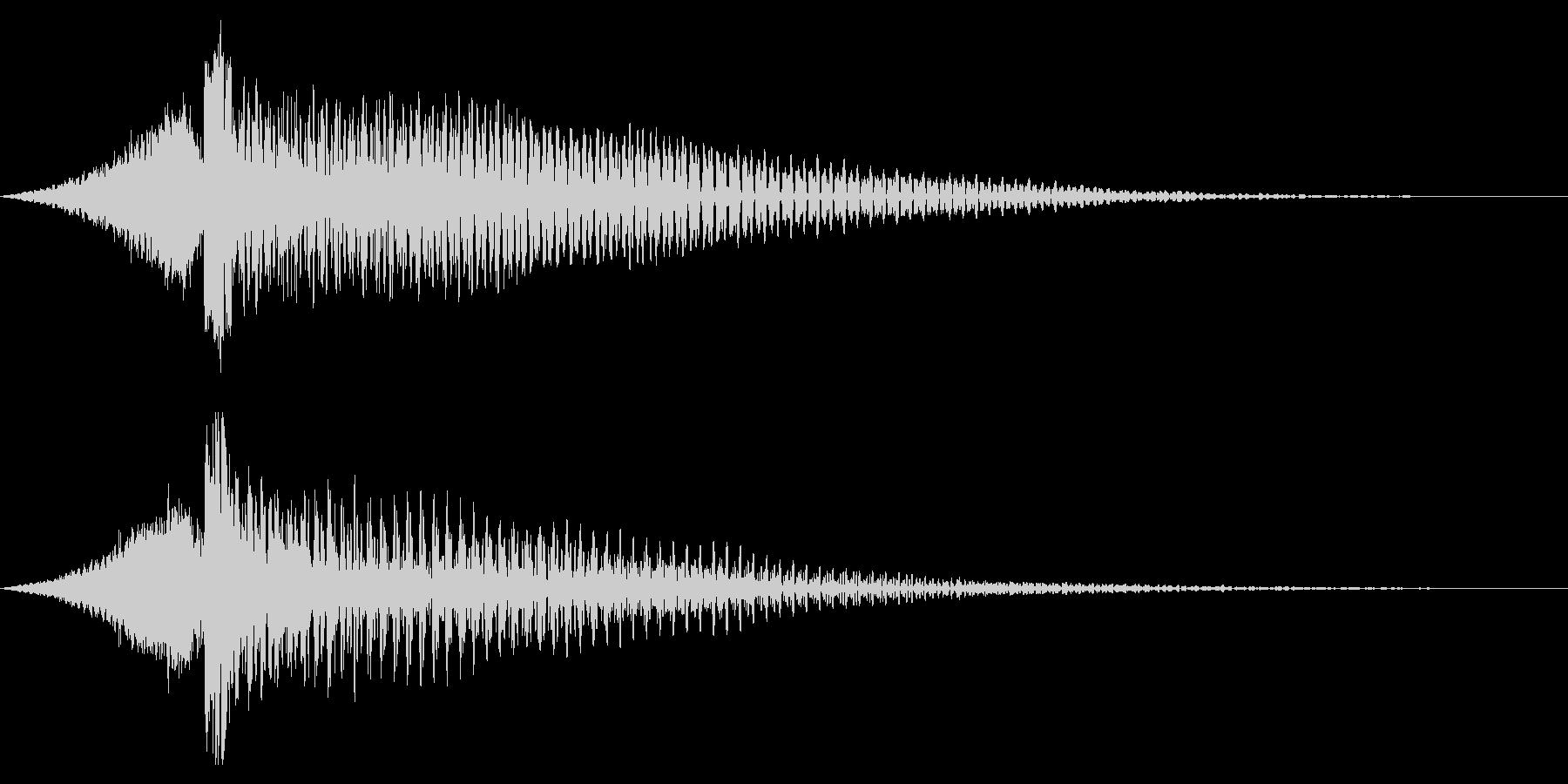 ホラー系アタック音118の未再生の波形