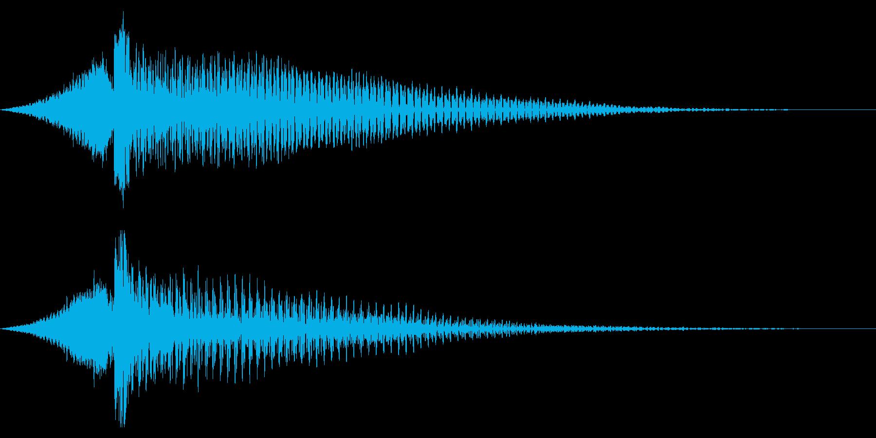 ホラー系アタック音118の再生済みの波形