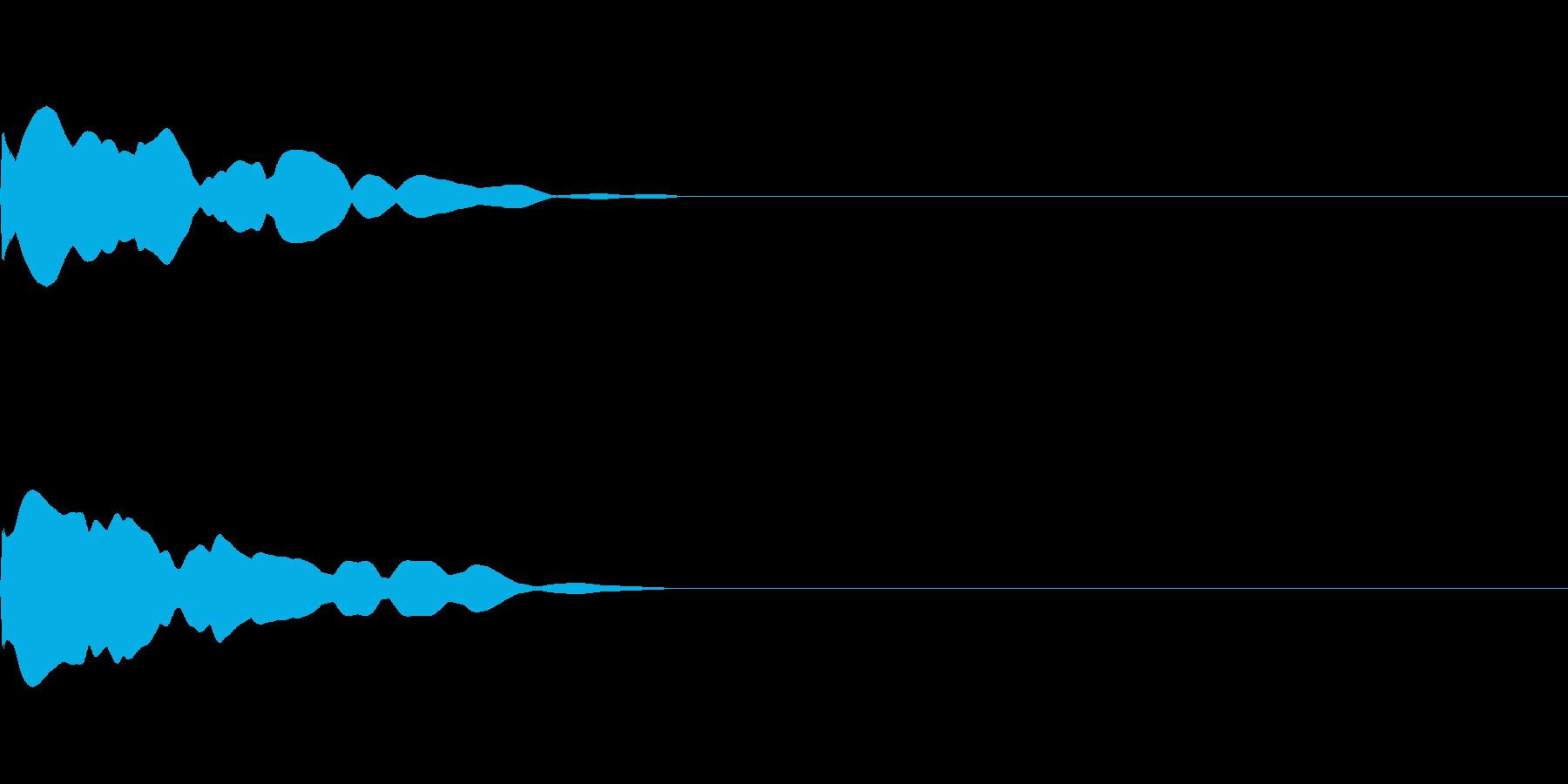 汎用 UI/決定/セレクト ポワンの再生済みの波形