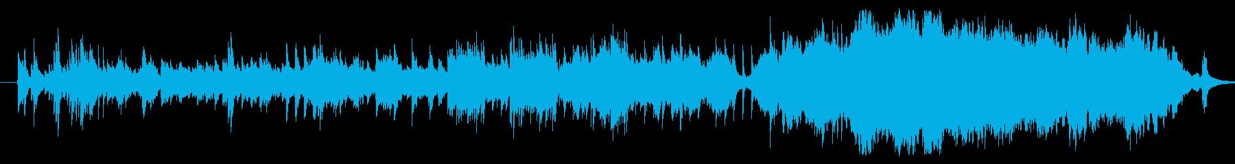 感動的で綺麗な音色のピアノメロディーの再生済みの波形