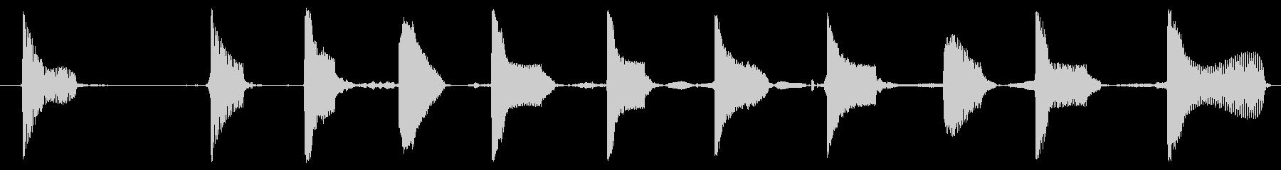 電話14の未再生の波形
