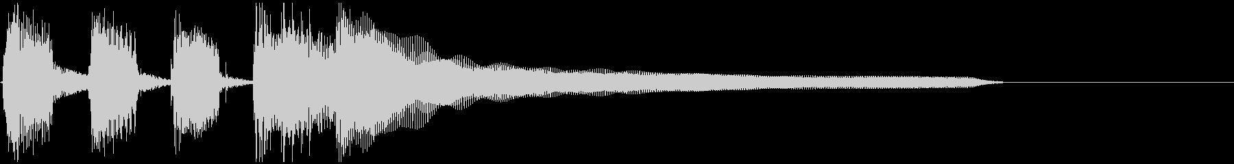 のんびり、ほのぼの、アコギのBGMの未再生の波形