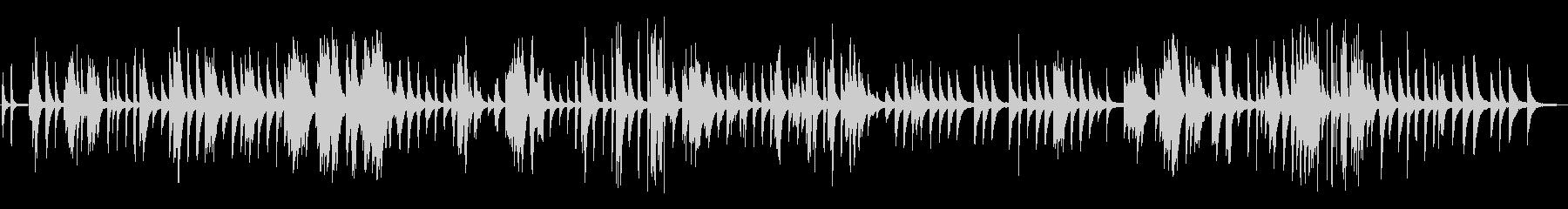 ピアノ楽曲です。24bit,48kHz…の未再生の波形