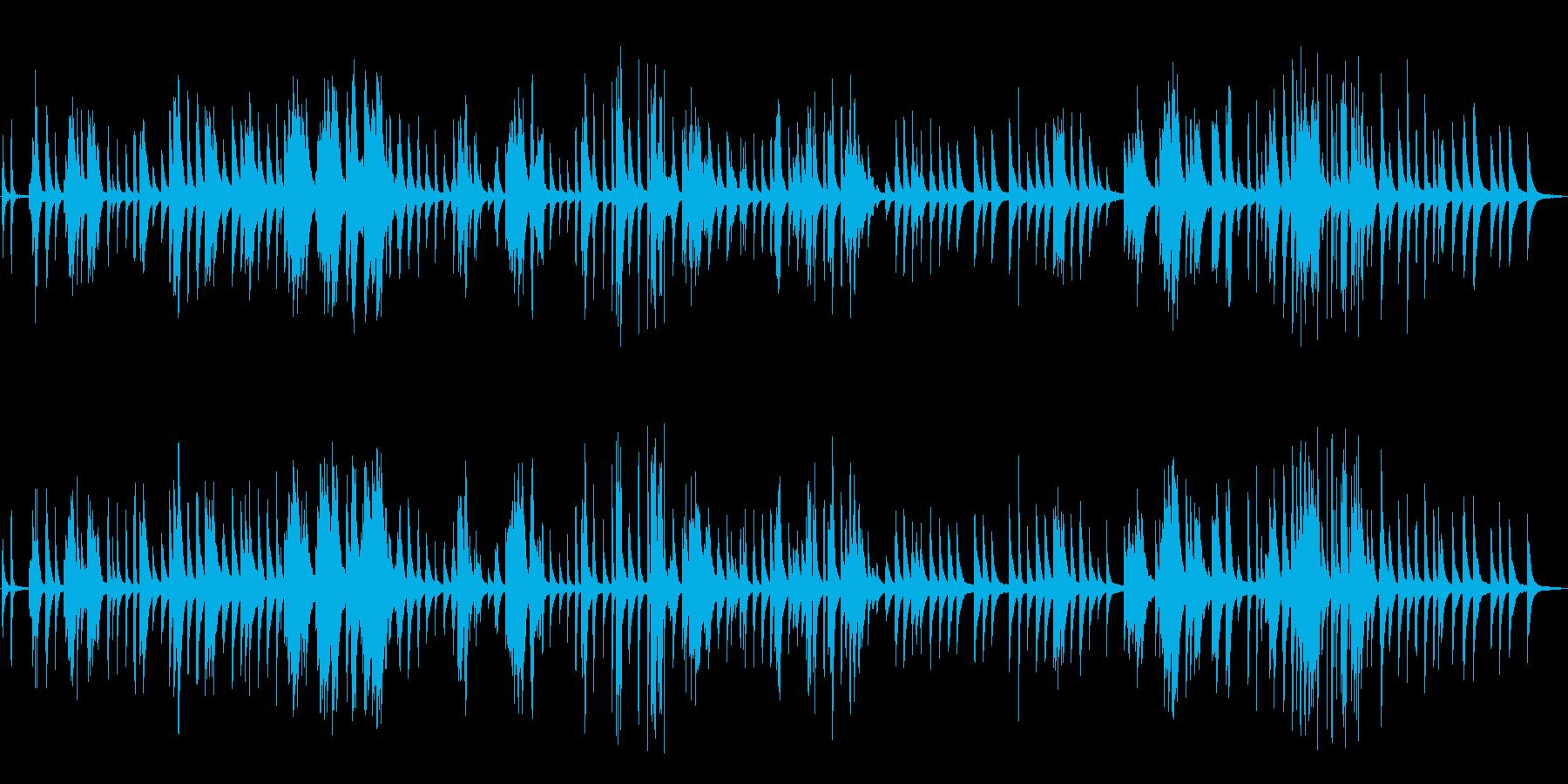 ピアノ楽曲です。24bit,48kHz…の再生済みの波形