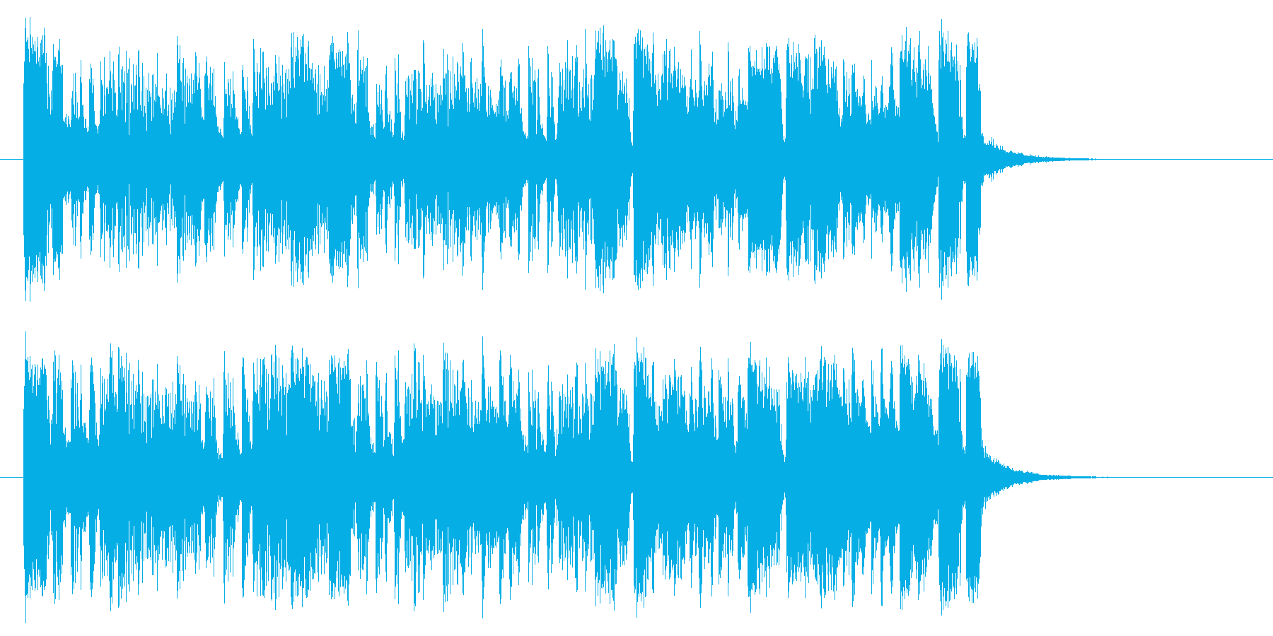 軽快で緩やかなサンバ風ポップジングルの再生済みの波形
