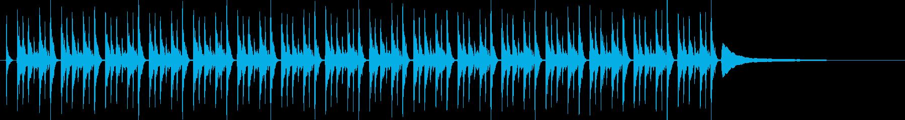 動画の説明をするときのBGMに近い効果音の再生済みの波形