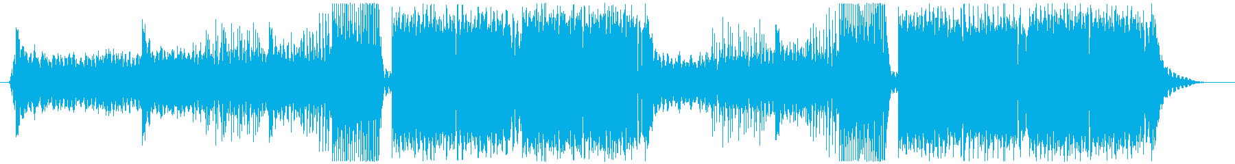 ランキング動画等に最適なフェス系EDMの再生済みの波形