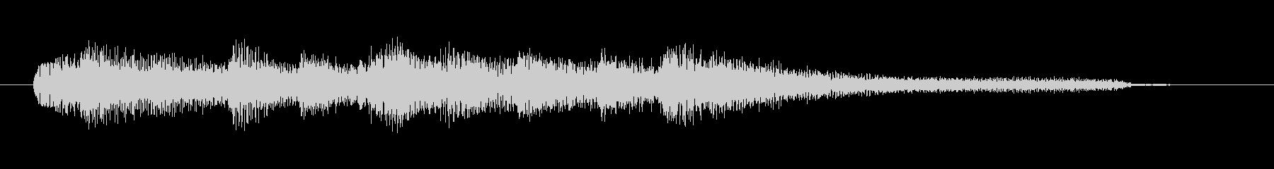 チャプター・場面転換等にピアノジングルAの未再生の波形