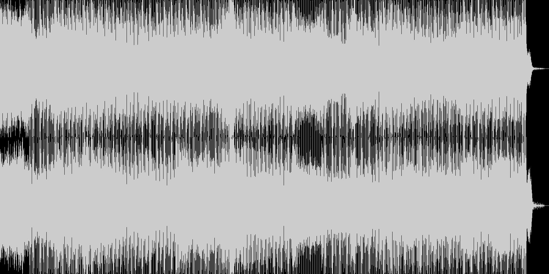 印象的なリフと軽快なリズムのBGMの未再生の波形